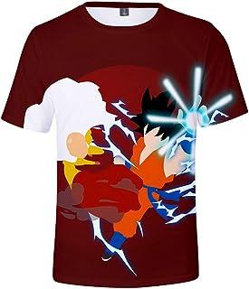 Silver Basic Camiseta Dragon Ball con Estampado 3D para niños Camiseta Deportiva de Manga Corta de Goku Summer