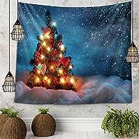 クリスマスタペストリークリスマスホリデー壁掛け家の装飾リビングルーム寝室150x102CM