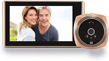"Topvico Door Viewer Peephole Video Doorbell Camera Motion Detection 4.3"" Monitor Digital Ring Security Voice Record 16GB"