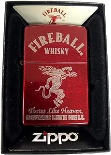 Zippo Custom Lighter - Candy Apple Red Fireball Whiskey Tastes Like Heaven Burns Like Hell Devil Alcohol