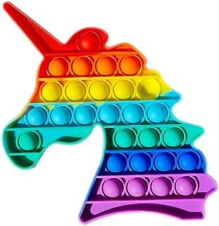 Desconocido Unicorn Juguete sensorial para Jugar con los Dedos, Burbujas para explotar, Push Pop, Unicornio popit, Autism...