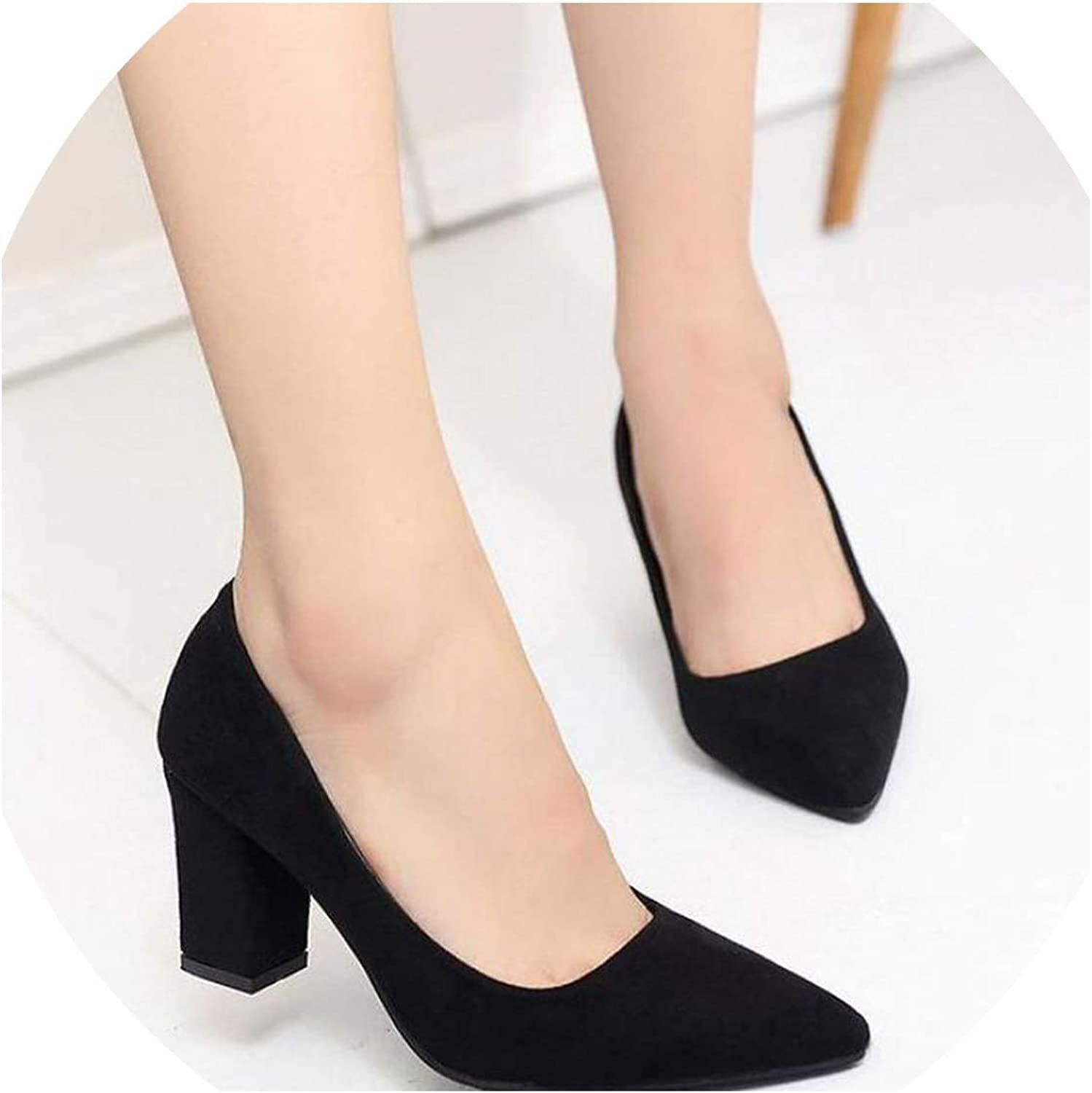 YP-fashion Women Pumps Sexy Nightclub Wedding Casual shoes Pointed Toe Parties Dress Slip-on