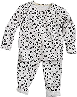 0-5 Años,SO-buts Pequeños Bebés Niñas Otoño Invierno Tops De Manga Larga Pantalones Estampados De Leopardo Pijamas Casuale...