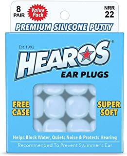 HEAROS Reusable Swimming Ear Plugs for Adults - One Size Fits All Mouldable Silicone Putty for Lasting Comfort; Waterproof...