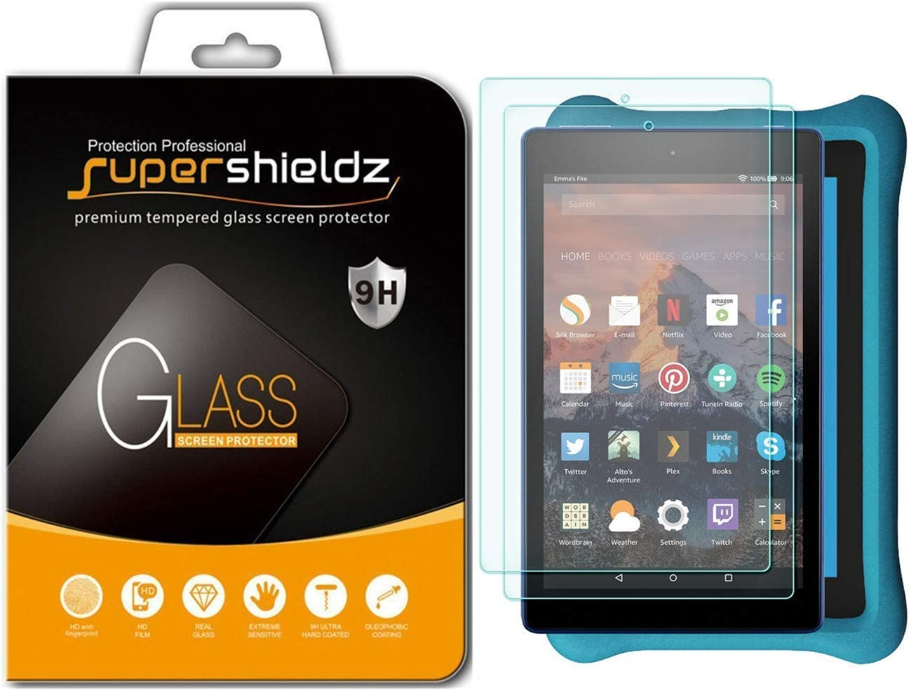 Philadelphia Mall 2 Dedication Pack Supershieldz Designed for All Kid Fire 7 and New