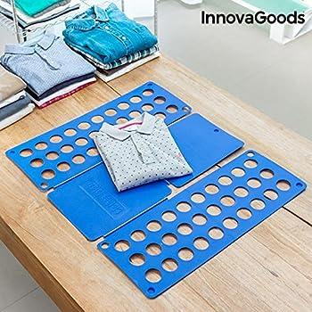 3/ª Generaci/ón 0,2 x 57 x 68 cm Camisas Relaxdays Doblador Ropa Plegable Azul PP Plegador Camisetas