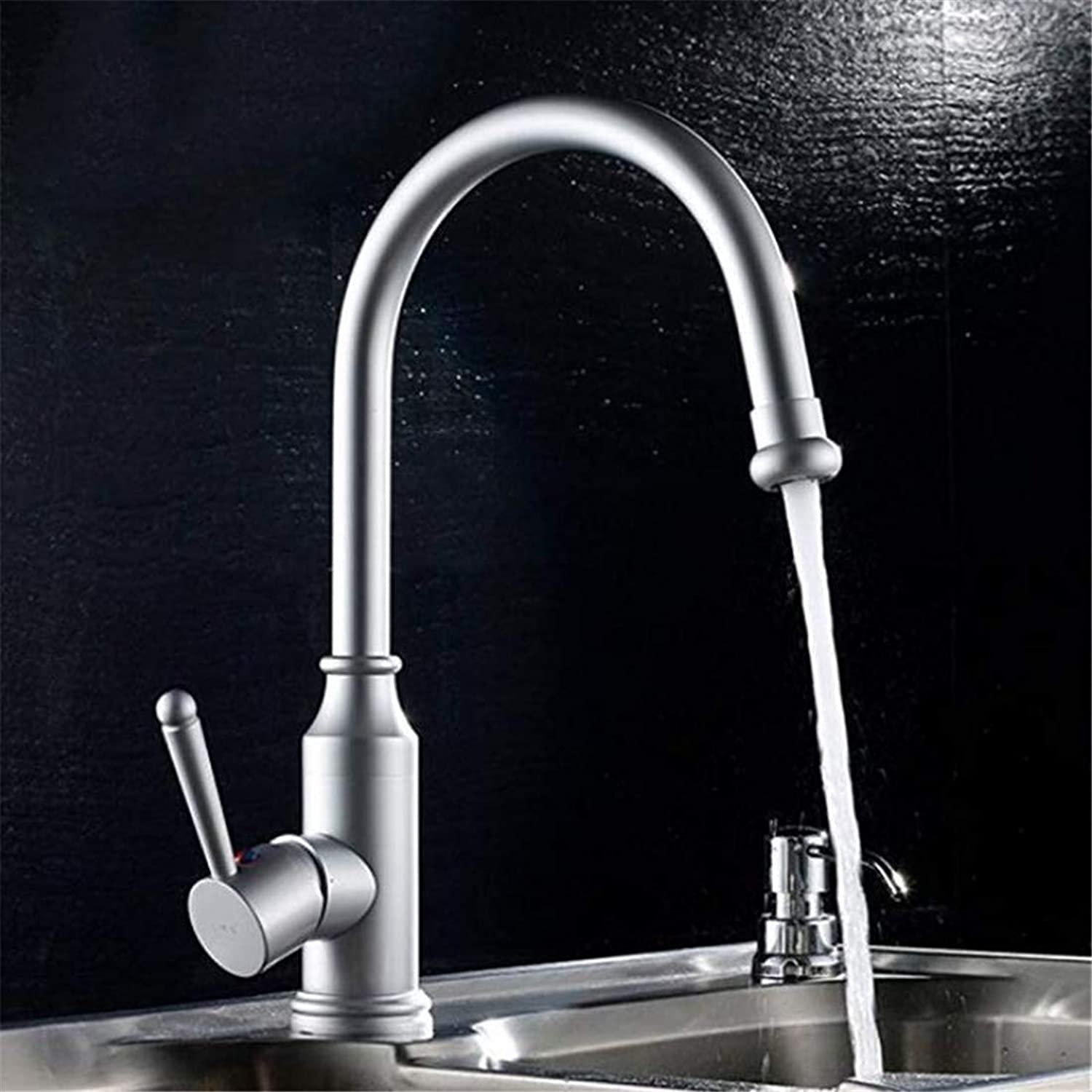 Faucet Bathroom Kitchen Luxury Modern Faucet Space Aluminum Faucet Kitchen Faucet Sink Sink Hot and Cold Mixing Faucet