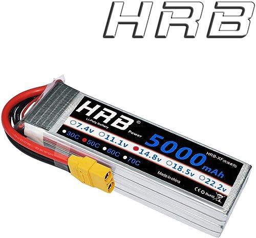 bajo precio HRB 4S 14.8V 14.8V 14.8V 5000Mah 50C Lipo Batería con xt90 Tapones para RC Avión RC Helicóptero RC Coche RC Camión RC Barco UAV Drone FPV  deportes calientes