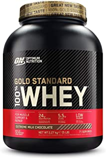 comprar comparacion Optimum Nutrition ON Gold Standard 100% Whey Proteína en Polvo Suplementos Deportivos, Glutamina y Aminoacidos, BCAA, Extr...