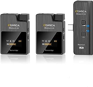 【日本語説明書付き】Comica-BoomX-D UC2-2.4Gワイヤレスマイク USB-TypeCスマホ接続 2台送信機・1台受信機 LCDスクリーン付き 高機能 モノラル/ステレオ出力サポート 録音マイク 内蔵/外部マイクサポート 品質保...