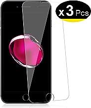 NEW'C Lot de 3, Verre Trempé pour iPhone 7, iPhone 8, Film Protection écran - Anti Rayures - sans Bulles d'air -Ultra Résistant (0,33mm HD Ultra Transparent) Dureté 9H Glass