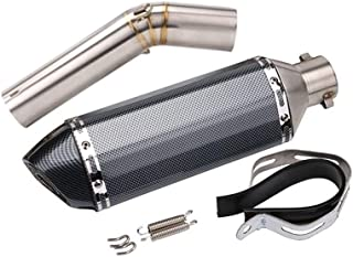 auto deportivo de Yamaha R6 tubo de escape SC l/áser de gran desplazamiento est/ándar de toda la motocicleta barril negro modificado universal de tubo de escape 51mm