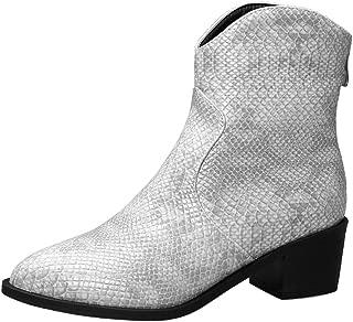 AbbyAnne Women Vintage Block Heels Autumn Boots Zipper Boots