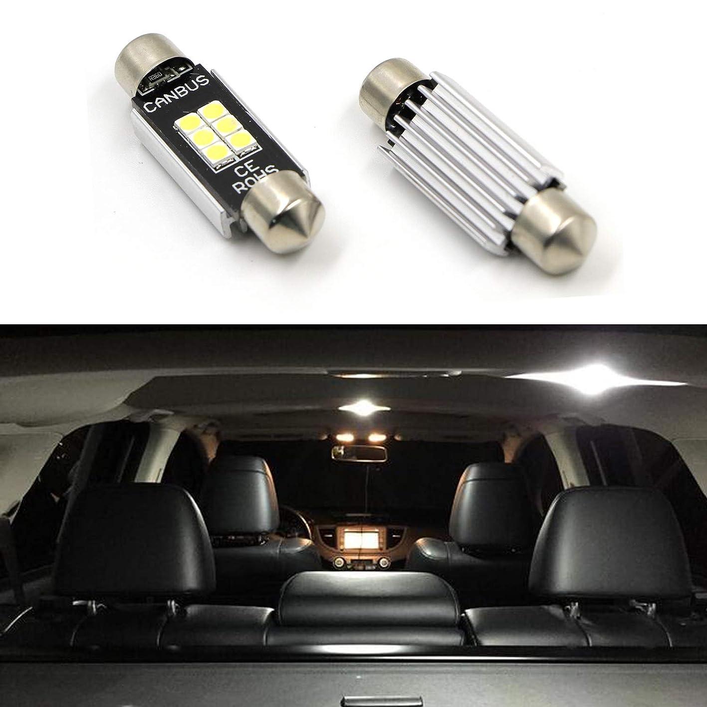 "6418 DE3423 DE3425 Dome Light 1.50"" 36MM 2pcs Festoon LED Bulbs For Interior Car Lights License Plate Trunk Side Marker Courtesy Extremely Bright 400 Lumens 3020 Chipset Canbus Error Free White 6000K niowjmttcpz831"