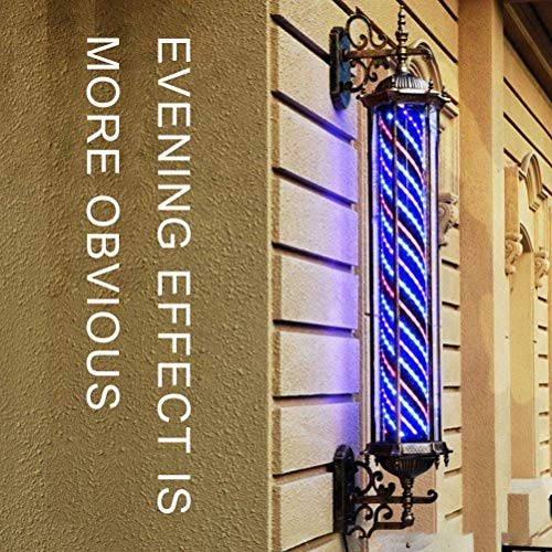 Retro Poste De Barbero con Forma De Flecha Luminoso Y con Rotación para Peluquerías,Impermeable,70Cm*27Cm