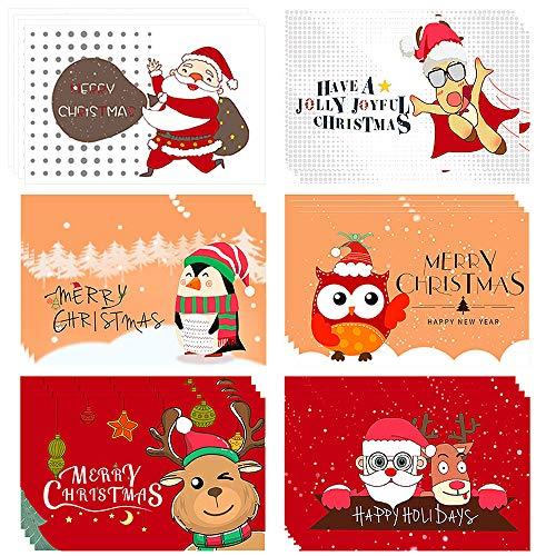 Cartoline di Natale,(set da 24) Biglietti di Natale con buste e adesivi,3D Cartoline di Natale,Biglietti di auguri vuoti,Biglietti di Natal per Salutare Familiari, Amici e Colleghi