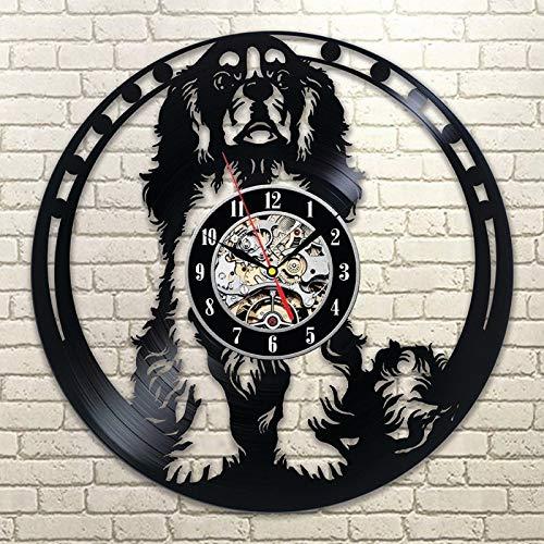 Usmnxo Cavalier Hound Dog 3D Wall Art Vinilo Animal Silueta Decoración de la habitación de los niños LED con luz 12 Pulgadas (30 cm)