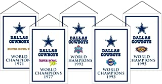 Winning Streak NFL Dallas Cowboys Unisex Dallas Cowboys Rafter Banner Replica PackDallas Cowboys Rafter Banner Replica Pack, Navy, Banner (Renewed)
