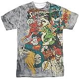 dc comics Friends Or Foes Adult T-Shirt White LG