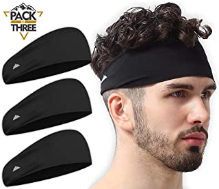 Mens Headband - Sports Running Sweat Head Bands -...