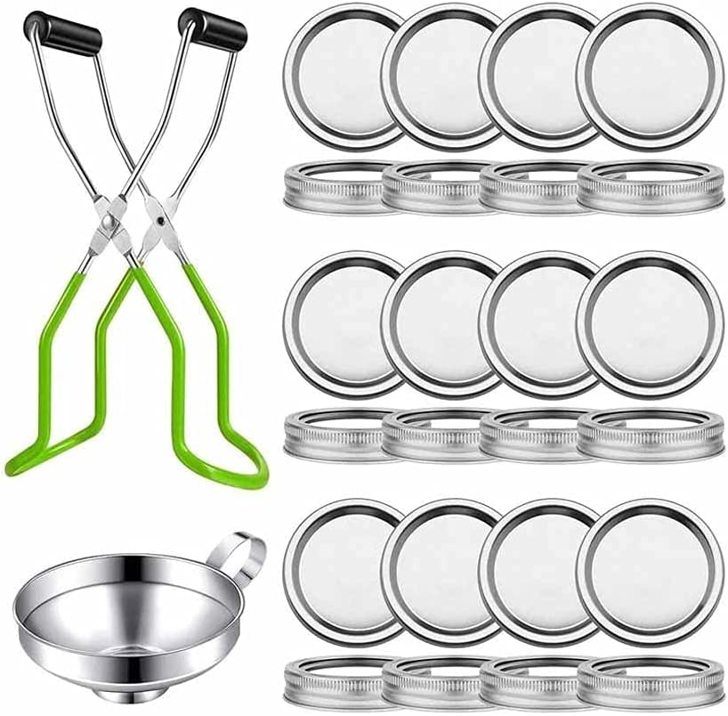 Award-winning store HAHFKJ Canning Lids Set Max 58% OFF Regular Jar Mason Mouth wit