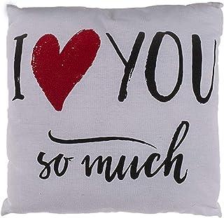 Plüsch Herz mit Pailletten creme-gold 20cm Plüschkissen Kissen Valentinstag