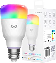 Smart LED Bulb, Multi Color RGB, Wi-Fi, Dimmable, 60W Equivalent, E26 110V, Smartphone Controlled, Compatible with Alexa, ...