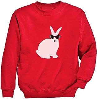 Tstars - キュート白いウサギさんギフト かわいい白うさぎプレゼント スイートウサギのプレゼント ユニーク白ウサギ贈り物 キッズスウェットシャツ
