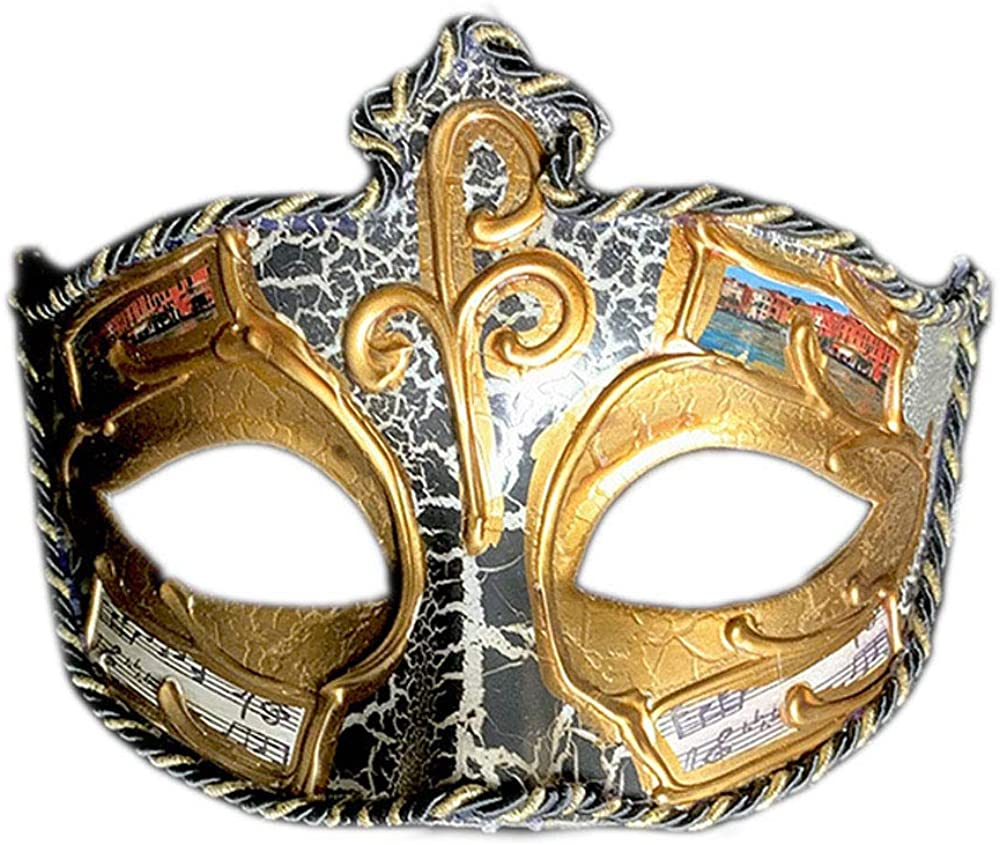 Dark Rose Mask Costume Mardi Gras Opera Cosplay Venetian