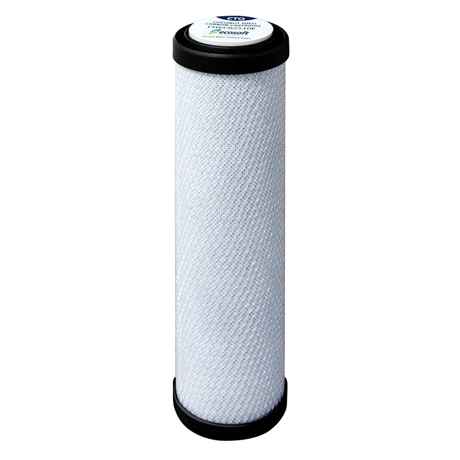 Ecosoft Countertop Water Replacement Filter Cartridge with Coconut-Based Carbon Block Filtration System