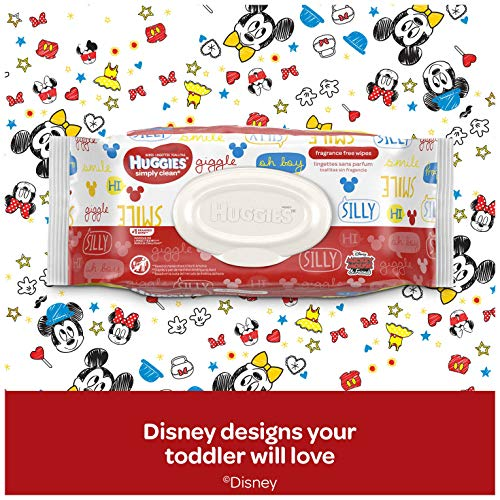 HUGGIES Simply Clean Fragrance-free Baby Wipes, Soft Pack (11-Pack, 704 Sheets Total), Alcohol-free, Hypoallergenic (Packaging May Vary)