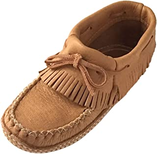 Bastien Industries Women's Earthing Grounding Natural Moosehide Leather Ankle Moccasins