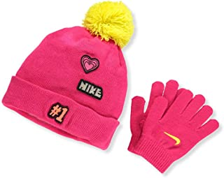 Nike Girls' Beanie & Gloves Set (Youth One Size)