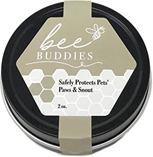 Bee Buddies Natural Paw Wax - Heals and Repairs Cracked Paws - Protective Care for Snouts - Soothes Irritated Skin - Treatment for Pets - Made in The USA - 2 oz