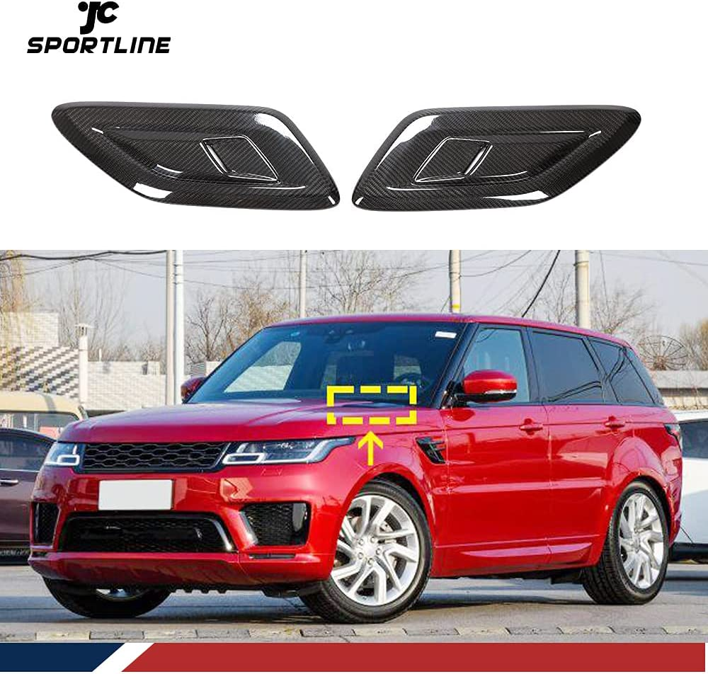 JC SPORTLINE Carbon Fiber Hood Fender Fits Easy-to-use Vents Rover Land for San Antonio Mall