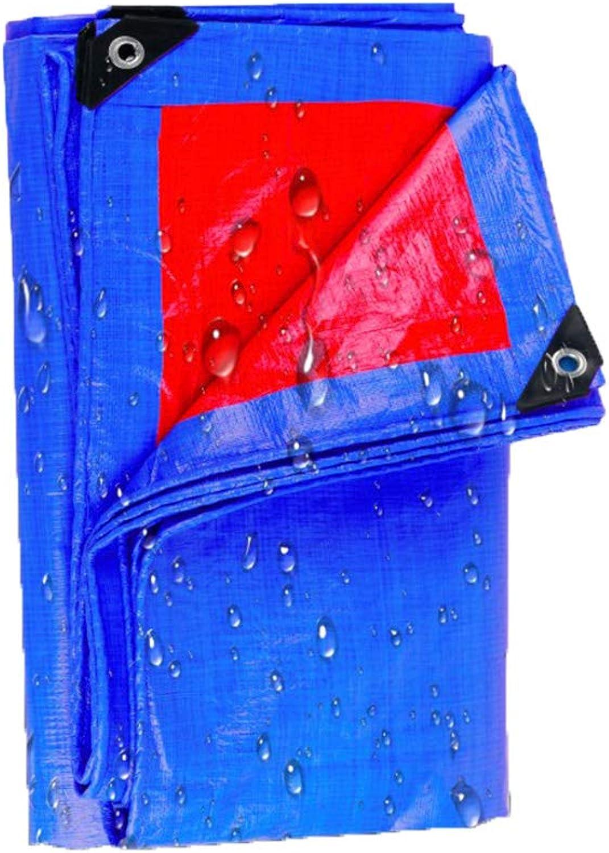 Tarpaulin HUO Verdickter beidseitiger regenfester Stoff Autoplanen-Zeltstoff Sonnenschutz Anti-Sun Film Film Film - Multi-Größe Optional (größe   4  10m) B07KM8HLGB  Stilvoll und charmant 753642