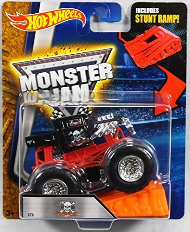 Hot Wheels Monster Jam 1 64 Scale  Bone Shaker with Stunt Ramp  26 by Hot Wheels