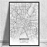 N/A Benutzerdefinierte Karte Poster Manchester Mekka