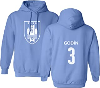 Tcamp Uruguay 2018 National Soccer #3 Diego GODIN World Championship Men's Hooded Sweatshirt