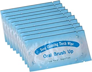 AZDENT Textured Disposable Finger Teeth Wipes Dental Brush Ups Clean Pre/Post Whitening