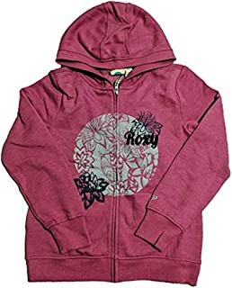 Roxy Girl Full Zip Sweatshirt Hoodie//S 7//8 // Blue Print