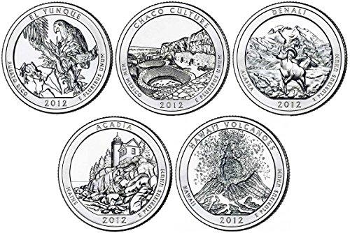 2012 P, D BU National Parks Quarters – 10 coin Set Uncirculated