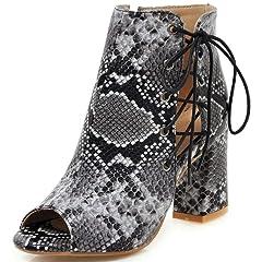 753a89ecd66 IDIFU Women s Casual Snakeskin Print Peep Toe Sandals High Ch ...  29.99 · IDIFU  Women s Comfy Flowers High Heels Wedge Platform ...