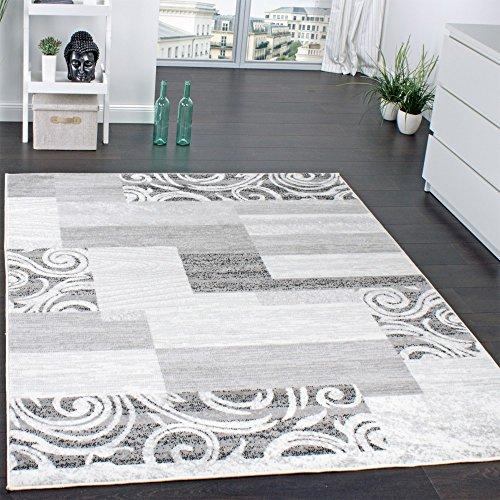 Alfombra De Pelo Corto para Sala De Estar Decoración Interior Gris Crema, tamaño:60x100 cm