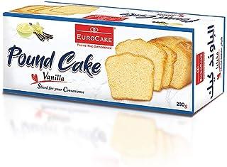 Eurocake Sliced Pound Cake Vanilla, 230 gm