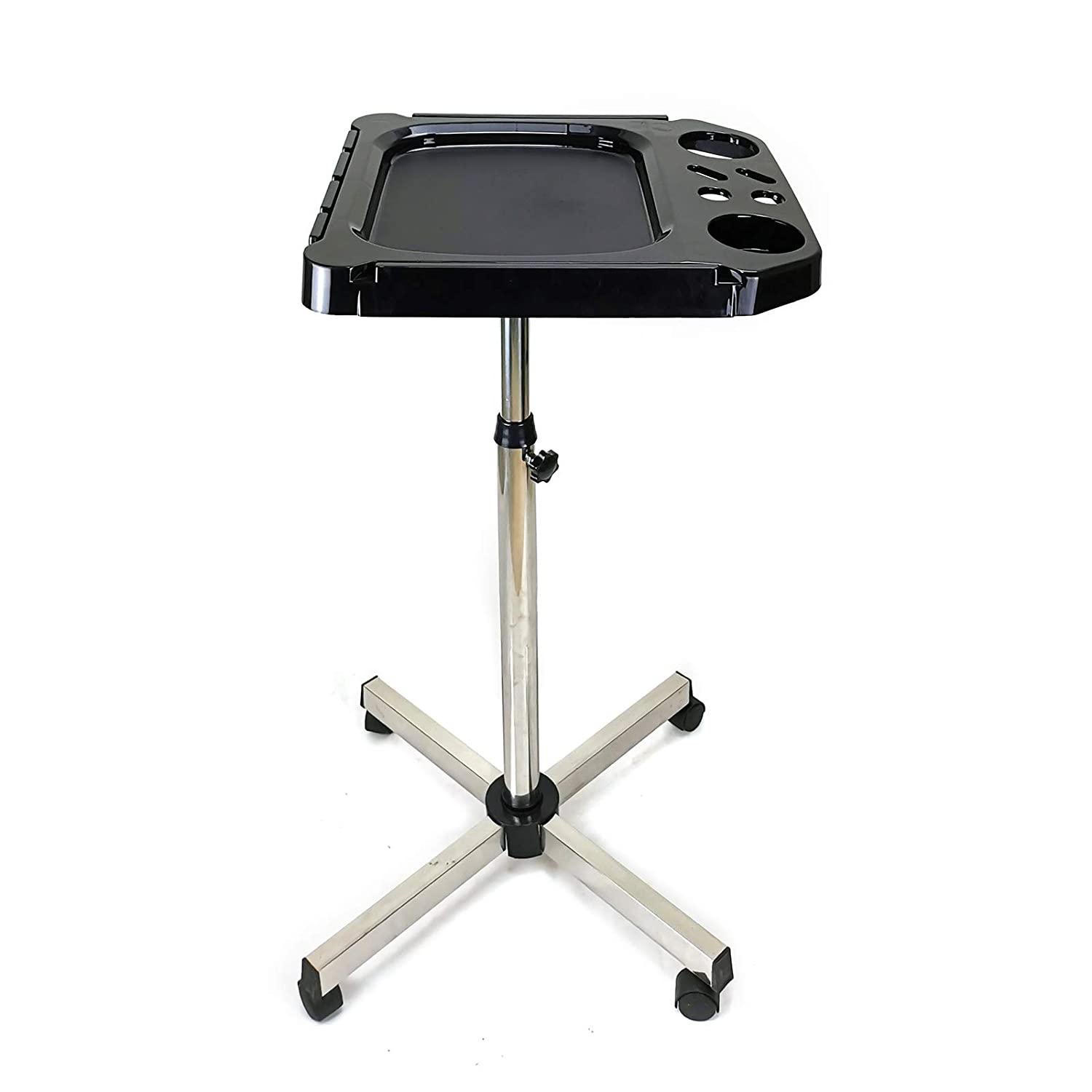 Oklahoma City Mall Adjustable Height Hair Free shipping on posting reviews Dye Cart Whee Alu Tray Rolling Salon