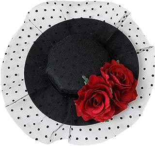 Urchart Women Fascinators Hat Girls Lady Cocktail Wedding Party Veil Hair Clip Headwear