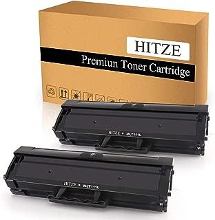HITZE Compatible Toner Cartridge Replacement for Samsung MLT 111S 111L MLT-D111S MLT-D111L Xpress SL M2020W M2070FW M2020 M2070 M2070W M2024W 2070W 2070FW M2026 (Black, High Yield, 2 Pack)