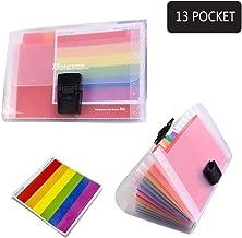 Goblin's Treasures 13 Pockets A6 Rainbow Expanding Folder A6 Mini Index File Folder (A6 File Folder)