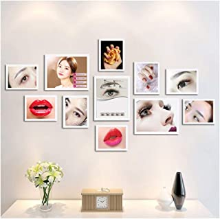Jlcydzplic Wall Decoration Painting Combination Eyebrow Lip Nail Art Background Wall Beauty Salon Micro Plastic Poster Frame Wall (Color : I, Size : 140cm78cm)